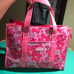 Lilly Pulitzer Pink & Purple Handled Large Tote